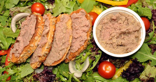 Potted Beef Spread On Toast Stock Photo