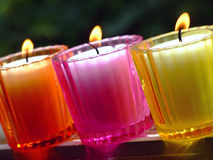 Potted candles Royalty Free Stock Images