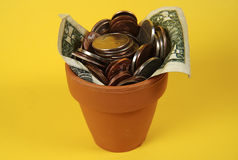 Potted Change stock image
