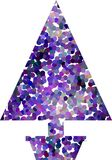 Potted Purple Spot Christmas Tree Royalty Free Stock Image