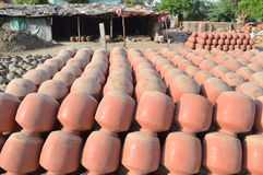 Potten in Kumbharwada, Ahmedabad Stock Foto's