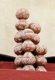 Potten met het traditionele Rajasthani-schilderen Stock Foto