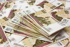 Potten van geld voor 100 roebels Royalty-vrije Stock Foto
