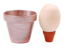 Potten voor eieren Stock Foto's