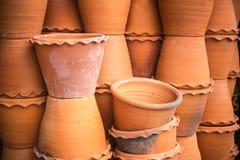 Potten voor het tuinieren en installatie Stock Afbeelding