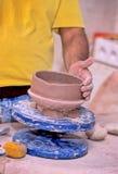 Pottenbakker Peru stock afbeeldingen