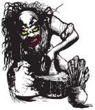 Pottenbakker, Schepper, Clown - Vectorillustratie uit de vrije hand royalty-vrije illustratie