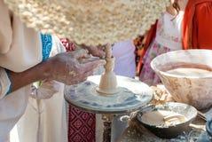 Pottenbakkers leidend aardewerk Royalty-vrije Stock Fotografie