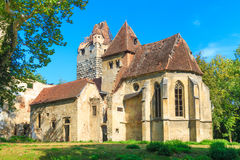 Pottendorf Castle and Gothic Church Ruins near Eisenstadt Stock Images