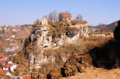 Pottenstein城堡在法兰克的瑞士 免版税图库摄影
