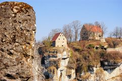 Pottenstein Castle in Franconian Switzerland Stock Photography