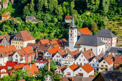Pottenstein-town center- Franconian Switzerland, Germany Stock Photo