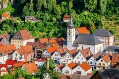 Pottenstein-town center- Franconian Switzerland, Germany Stock Photo