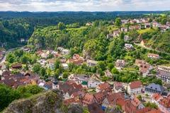 Pottenstein village in Franconian Switzerland stock image
