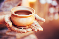 Potter And Clay Craft Royalty Free Stock Images