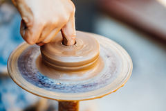 Potter and clay craft Royalty Free Stock Photography