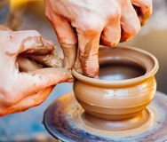 Potter and clay craft Royalty Free Stock Photo