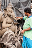 Potter creating clay Ganesha Stock Photography