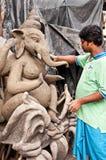 Potter creating clay Ganesha Stock Photography