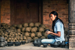 Potter girl, Nepal Royalty Free Stock Photo