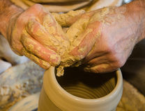 The potter hands Royalty Free Stock Photos