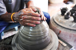 The potter hands Royalty Free Stock Images