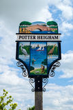 POTTER HEIGHAM, NORFOLK/UK - MAY 23 : View of the Town Sign at P Royalty Free Stock Images