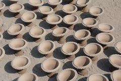 Potter in making pot for ahead of Gangour festival in Rajasthan Bikaner Royalty Free Stock Image