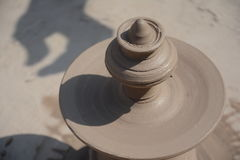 Potter in making pot for ahead of Gangour festival in Rajasthan Bikaner Royalty Free Stock Photos