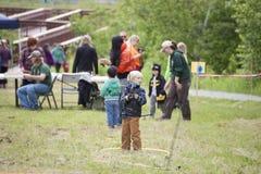Potter Marsh Wildlife Refuge Anchorage Alaska stock photos