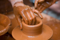 Potter's Hands Stock Images