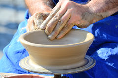 Potter's Hands royalty free stock image