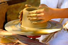 Potter's wheel Stock Image