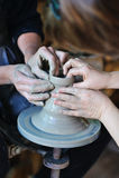 Potter's wheel Stock Photo