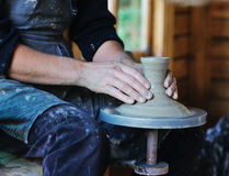 Potter's wheel Stock Images