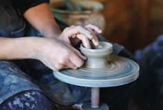 Potter's wheel Royalty Free Stock Images