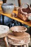 Potter's workshop Royalty Free Stock Photography
