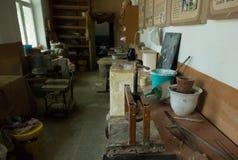 Potter s workshop. Royalty Free Stock Photo
