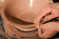 Potter Shaping Clay Royalty Free Stock Photos