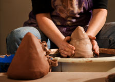 Potter Shaping Clay Royalty Free Stock Photography