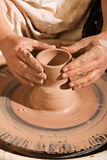 Potter Shaping Clay Stock Images