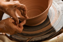 Potter Shaping Clay Royalty Free Stock Photo