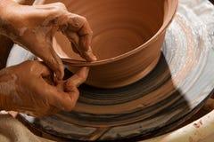 Potter Shaping Clay Royalty Free Stock Photo