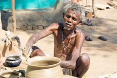 Potter in tribal rural village Stock Photography
