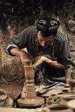 A potter was working â…¤ stock image