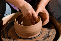 Potter at the Wheel Royalty Free Stock Photography