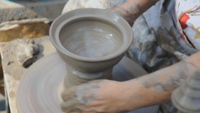 Potter wheel stock video footage