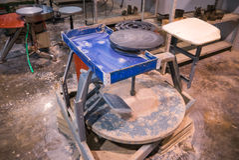Potter wheel Royalty Free Stock Photography