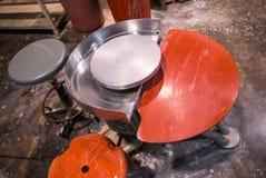 Potter wheel Stock Photo