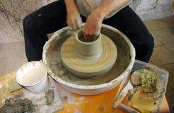 Potter wheel and equipment Stock Photo